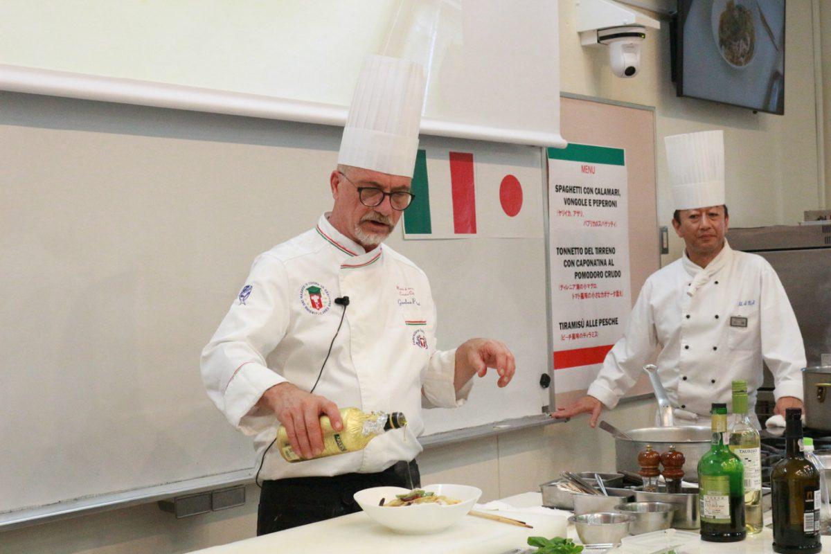 ルッカ・イタリア料理学院ジャンルーカ学院長による特別講習2018